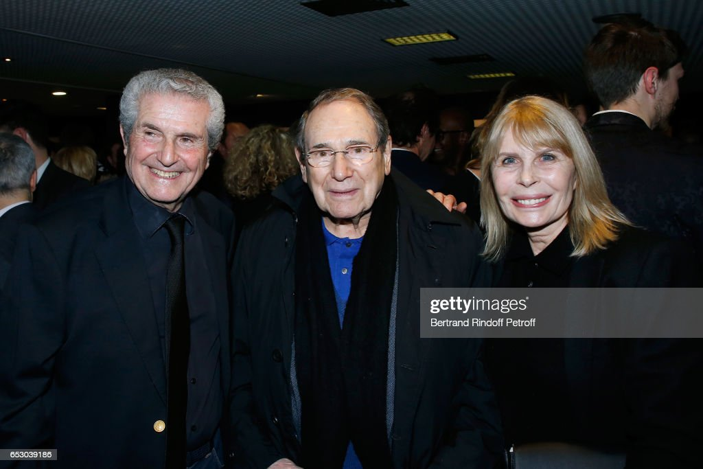 Director of the movie Claude lelouch, Robert Hossein and Candice Patou attend the 'Chacun sa vie' Paris Premiere at Cinema UGC Normandie on March 13, 2017 in Paris, France.