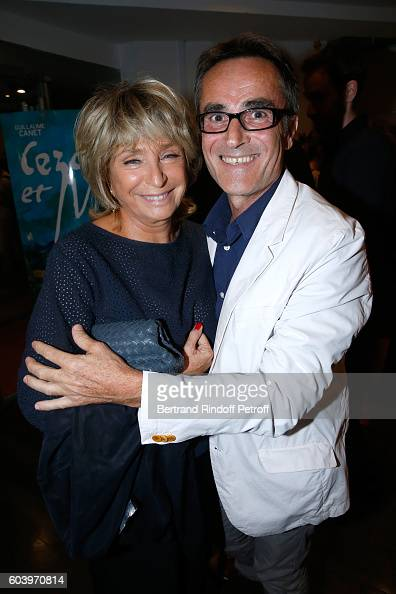 Director of the movie Daniele Thompson and photographer Luc Roux attend the 'Cezanne et Moi' Premiere Held at the Cinema 'Le Cezanne' on September 12...