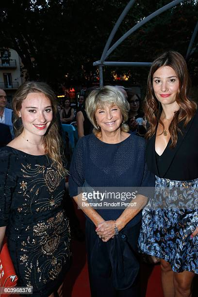 Director of the movie Daniele Thompson standing between actresses of the movie Deborah Francois and Alice Pol attend the 'Cezanne et Moi' Premiere...