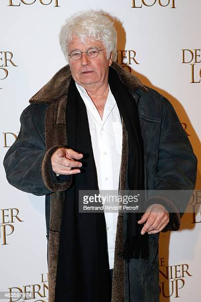 Director of the movie JeanJacques Annaud attend 'Le Dernier Loup' Paris Premiere Held at Cinema UGC Normandie on February 16 2015 in Paris France