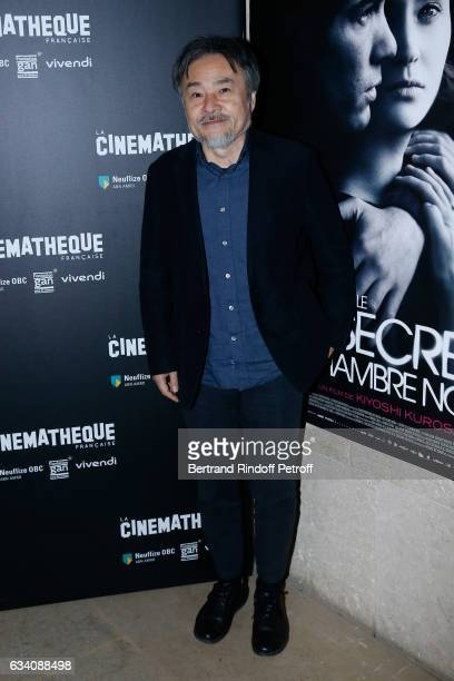 Director of the movie Kiyoshi Kurosawa attends the 'Le secret de la chambre noire' Paris Premiere at Cinematheque Francaise on February 6 2017 in...