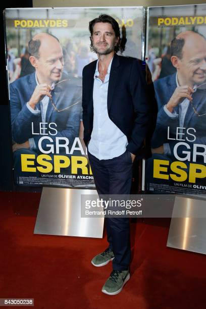 Director of the movie Olivier AyacheVidal attends the 'Les grands Esprits' Paris Premiere at UGC Cine Cite des Halles on September 5 2017 in Paris...