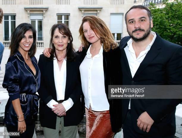 Director of the movie Reem Kherici actors of the movie Chantal Lauby Julia Piaton and FrancoisXavier Demaison attend the 'Jour J' Paris movie...