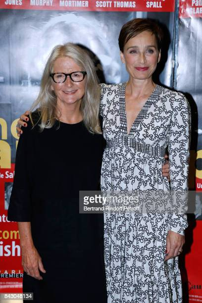 Director of the movie Sally Potter and actress of the movie Kristin Scott Thomas attend the 'The Party' Paris Premiere at UGC Cine Cite des Halles on...