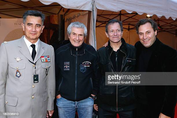 Director of the Museum of the Army of Invalides and General of Division Christian Baptiste director Claude Lelouch stage director of the opera...