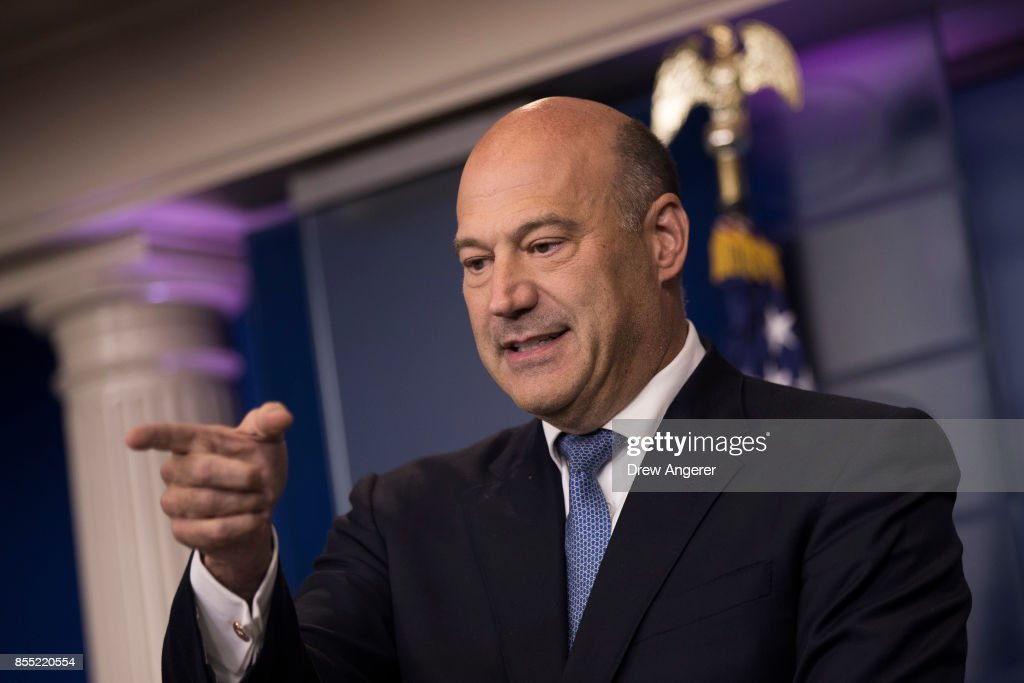 Director of the National Economic Council Gary Cohn speaks during the daily news briefing at the James Brady Press Briefing Room of the White House, September 28, 2017 in Washington, DC. Cohn discussed the administration's plans for reforming the tax code.