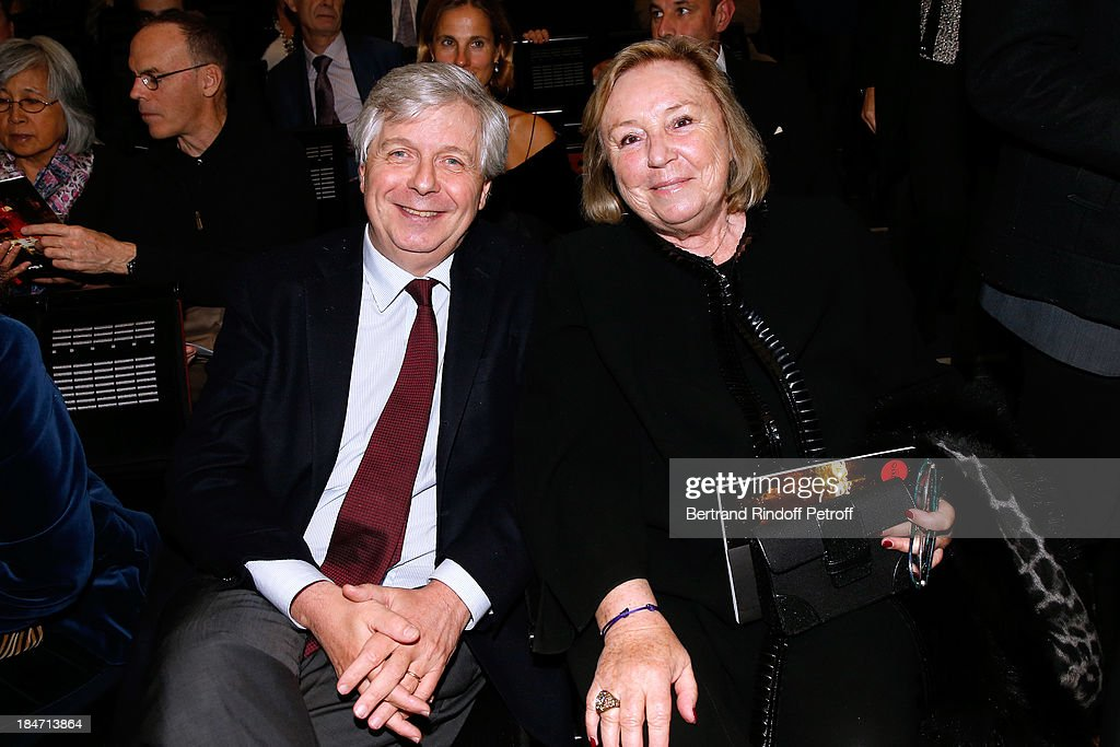 Director of the National Opera Stephane Lissner (L) and Miss Francois Pinault attend AROP Gala at Opera Bastille with a representation of 'Aida' on October 15, 2013 in Paris, France.