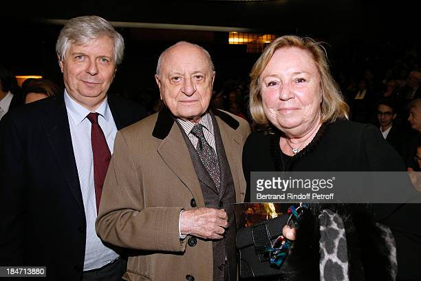 Director of the National Opera Stephane Lissner Pierre Berge and Miss Francois Pinault attend AROP Gala at Opera Bastille with a representation of...