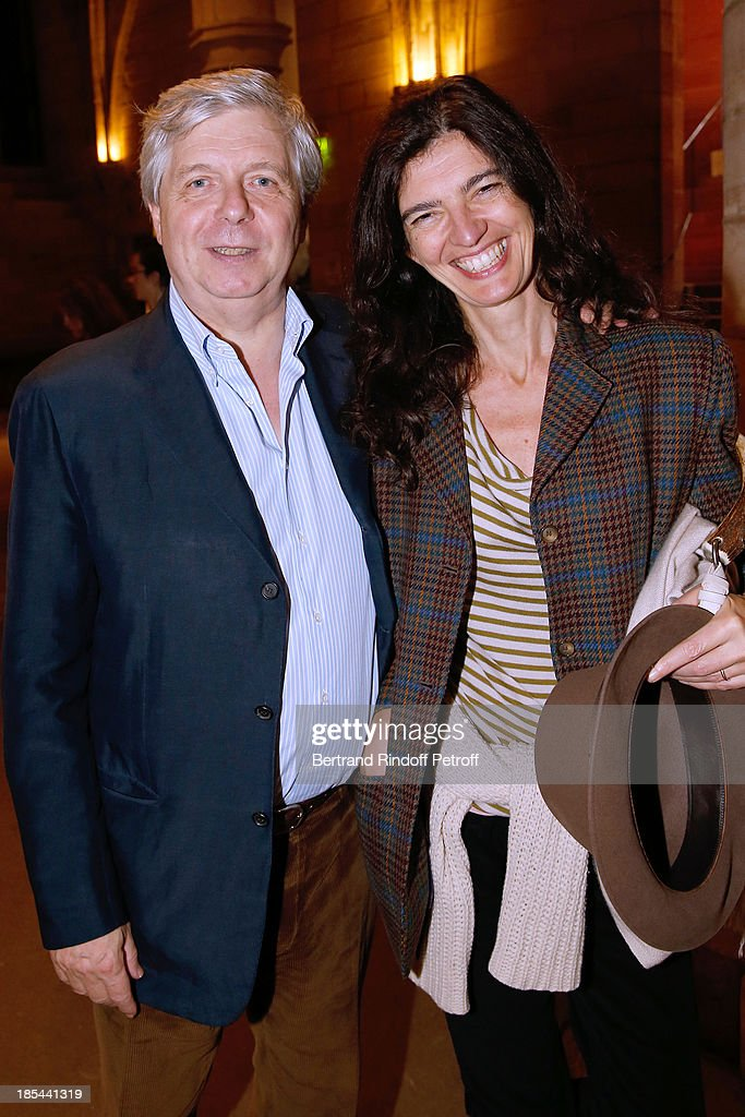 Director of the National Opera Stephane Lissner with his wife attend 'A Triple Tour' : Francois Pinault Collection Exhibition opening at the Conciergerie on October 20, 2013 in Paris, France.