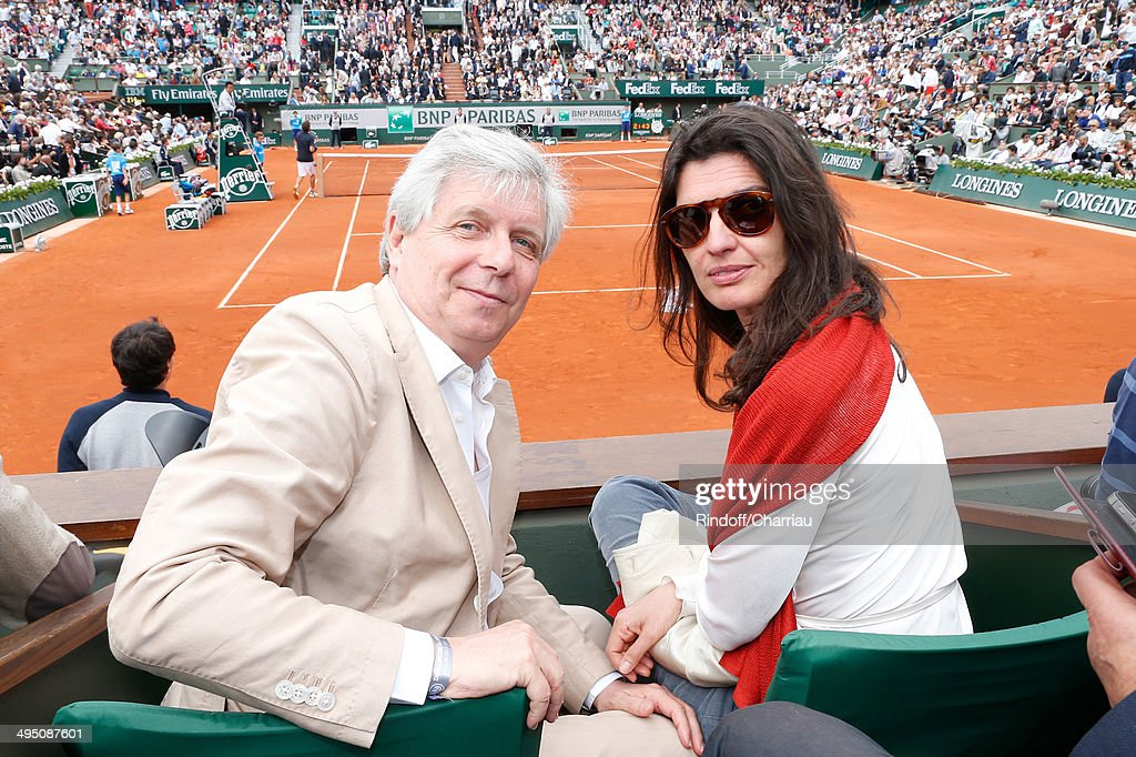 Director of the National Opera Stephane Lissner with his wife attend the Roland Garros French Tennis Open 2014 - Day 8 on June 1, 2014 in Paris, France.