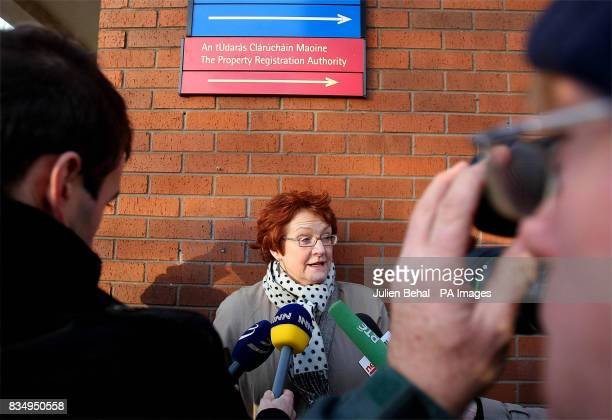 Director of The National Women's Council of Ireland Joanna McMinn speaks to the media on her way into the Court of Criminal Appeal in Dublin