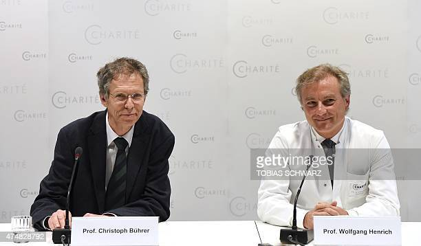 Director of the neonatology clinic of Berlin's charite Christoph Buehrer and Director of the maternity clinic of Berlin's charite Wolfgang Henrich...
