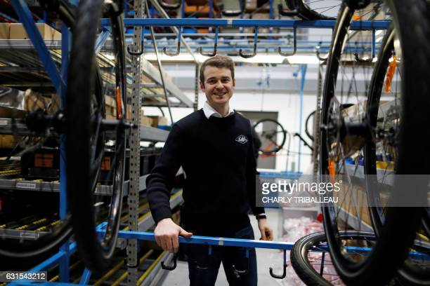 Director of the plant Benoit Carrelet is pictured in the Easybike plant where Solex bikes are manufactured on January 12 2017 in SaintLô northwestern...