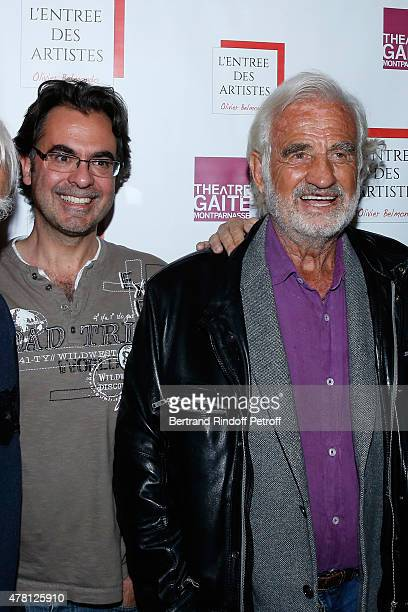Director of the school 'L'Entree Des Artistes' Olivier Belmondo and his Oncle Sponsor of the school 'L'Entree Des Artistes' Actor JeanPaul Belmondo...