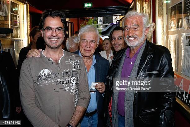 Director of the school 'L'Entree Des Artistes' Olivier Belmondo Humorist Guy Bedos and Sponsor of the school 'L'Entree Des Artistes' Actor JeanPaul...