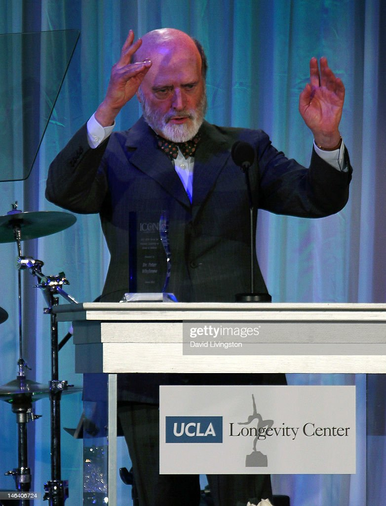 Director of the Semel Institute for Neuroscience and Human Behavior at UCLA and evening honoree Dr. Peter C. Whybrow speaks at the UCLA Longevity Center's 2012 ICON Awards at the Beverly Hills Hotel on June 6, 2012 in Beverly Hills, California.