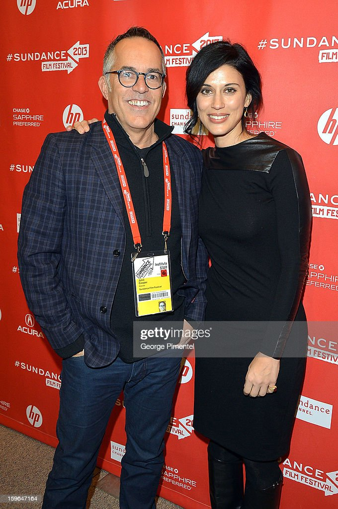 Director of the Sundance Film Festival John Cooper and filmmaker Cherien Dabis attend the 'May In The Summer' premiere during the 2013 Sundance Film Festival at Eccles Center Theatre on January 17, 2013 in Park City, Utah.