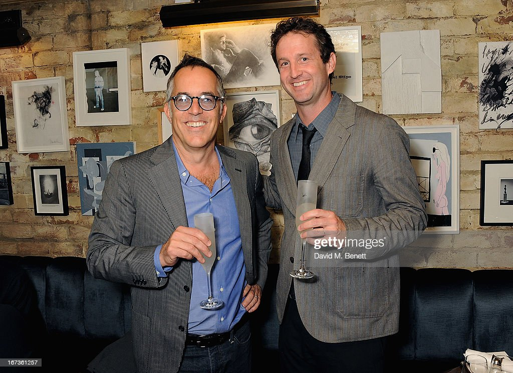 Director of the Sundance Film Festival John Cooper and <a gi-track='captionPersonalityLinkClicked' href=/galleries/search?phrase=Trevor+Groth&family=editorial&specificpeople=561179 ng-click='$event.stopPropagation()'>Trevor Groth</a> attend Grey Goose hosted Sundance London Filmmaker Dinner at Little House on April 24, 2013 in London, England.