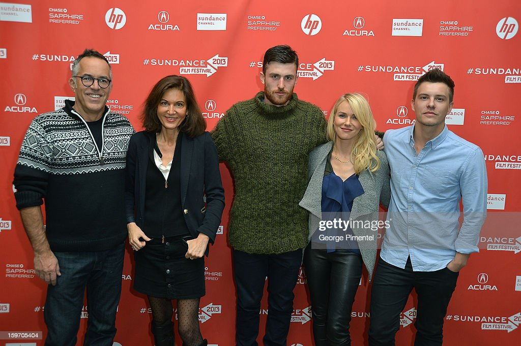 Director of the Sundance Film Festival John Cooper, Director Anne Fontaine and actors James Frecheville, Naomi Watts and Xavier Samuel attend the 'Two Mothers' Premiere during the 2013 Sundance Film Festival at Eccles Center Theatre on January 18, 2013 in Park City, Utah.