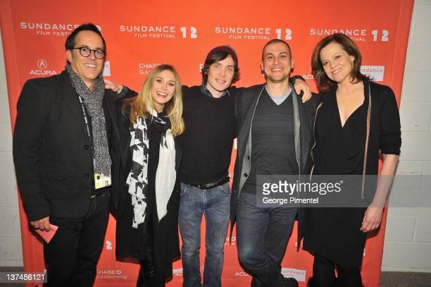 Director of the Sundance Film Festival John Cooper Elizabeth Olsen Cillian Murphy Rodrigo Cortes and Sigourney Weaver attend the 'Red Lights'...