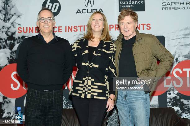 Director of the Sundance Film Festival John Cooper Executive Director of the Sundance Institute Keri Putnam and Sundance Institute President and...