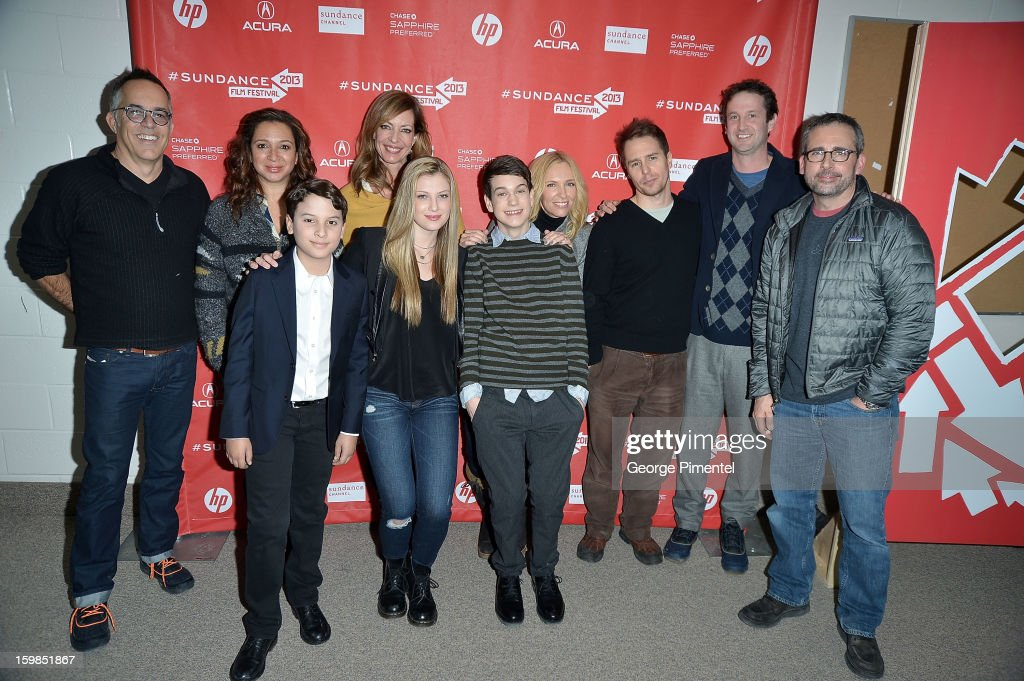 Director of the Sundance Film Festival John Cooper with cast members <a gi-track='captionPersonalityLinkClicked' href=/galleries/search?phrase=Maya+Rudolph&family=editorial&specificpeople=857236 ng-click='$event.stopPropagation()'>Maya Rudolph</a>, River Alexander, <a gi-track='captionPersonalityLinkClicked' href=/galleries/search?phrase=Allison+Janney&family=editorial&specificpeople=206290 ng-click='$event.stopPropagation()'>Allison Janney</a>, Zoe Levin, Liam James, <a gi-track='captionPersonalityLinkClicked' href=/galleries/search?phrase=Toni+Collette&family=editorial&specificpeople=204673 ng-click='$event.stopPropagation()'>Toni Collette</a>, <a gi-track='captionPersonalityLinkClicked' href=/galleries/search?phrase=Sam+Rockwell&family=editorial&specificpeople=213214 ng-click='$event.stopPropagation()'>Sam Rockwell</a>, and <a gi-track='captionPersonalityLinkClicked' href=/galleries/search?phrase=Steve+Carell&family=editorial&specificpeople=595491 ng-click='$event.stopPropagation()'>Steve Carell</a> attend 'The Way, Way Back' premiere at Eccles Center Theatre during the 2013 Sundance Film Festival on January 21, 2013 in Park City, Utah.