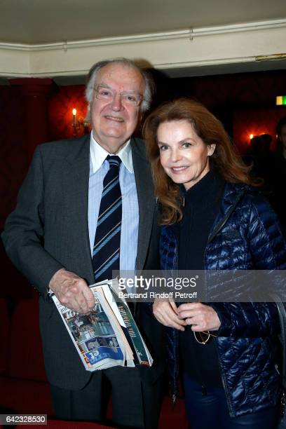 Director of the 'Theatre Montparnasse' JeanLouis Vilgrain and actress Cyrielle Clair attend the 'Prix Du Brigadier 2016' at Theatre Montparnasse on...