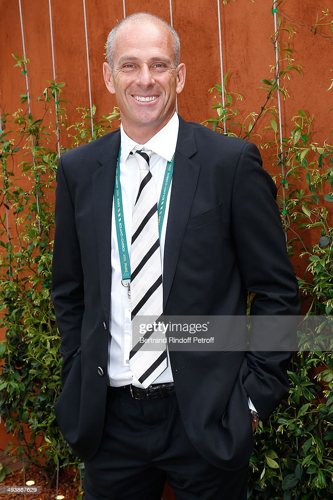Director of the tournament Guy Forget attends the Tennis French Open 2014 Day 1 at Roland Garros on May 25 2014 in Paris France