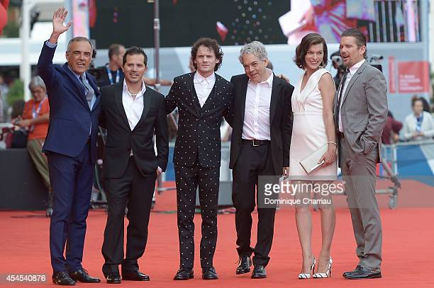 Director of the Venice Film Festival Alberto Barbera actors John Leguizamo Anton Yelchin director Michael Almereyda actors Milla Jovovich and Ethan...