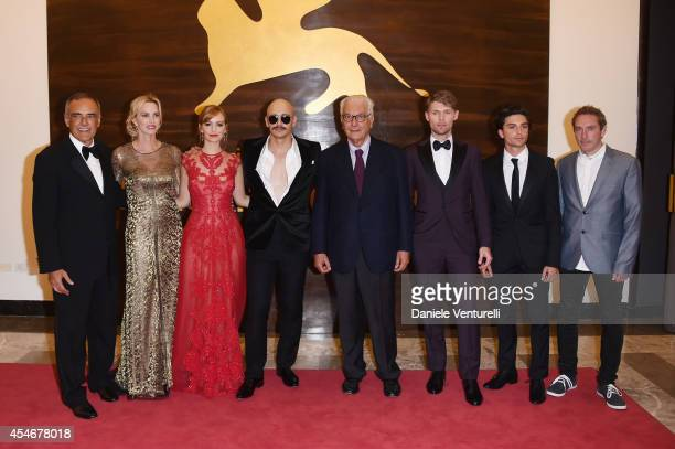 Director of the Venice Film Festival Alberto Barbera actresses Janet Jones Gretzky Ahna O'Reilly director James Franco President of the Festival...