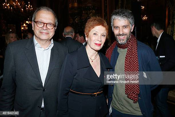 director of Theatre de l'Ouest Parisien Olivier Meyer Paris Opera dance director Brigitte Lefevre and James Thierree attend ballet dancer Nicolas Le...