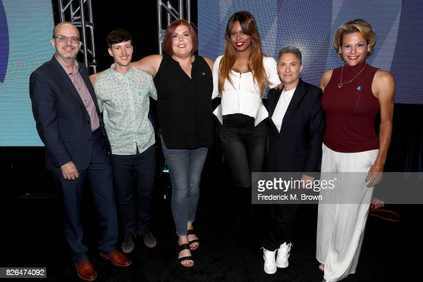 Director of Transgender Media Representation GLAAD Nick Adams producer on 'Transparent' Rhys Ernst creator of Amazon's 'Danger Eggs' Shadi Petosky...