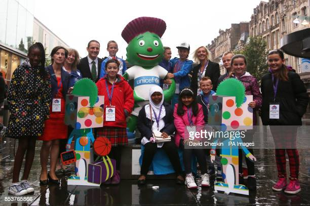Director of UK Programmes at Unicef UK Teresa Bergin Sport Secretary Shona Robison Commonwealth Games Glasgow 2014 chief executive David Grevemberg...