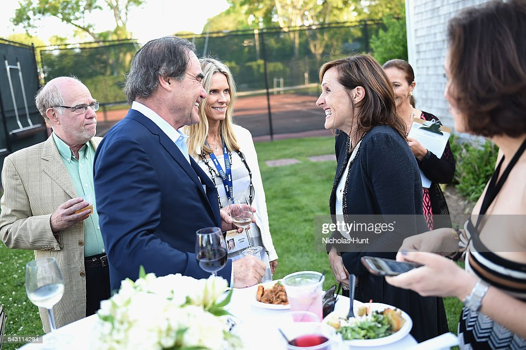 Director Oliver Stone (L) and Comedian Molly Shannon at the 2016 Nantucket Film Festival Day 4 on June 25, 2016 in Nantucket, Massachusetts.