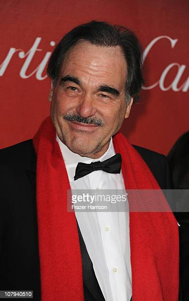 Director Oliver Stone arrives at the 2011 Palm Springs International Film Festival Awards Gala at the Palm Springs Convention Centre on January 8...