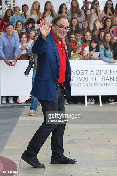 Director Oliver Stone arrives at the Maria Cristina Hotel during the 61th San Sebastian International Film Festival on September on September 21 2013...
