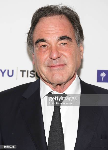 Director Oliver Stone attends NYU's Tisch School Of The Arts' West Coast Benefit Gala at Regent Beverly Wilshire Hotel on October 28 2013 in Beverly...