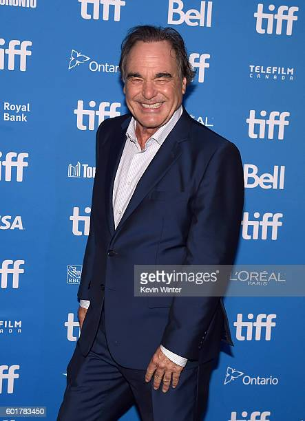 Director Oliver Stone attends 'Snowden' press conference during the 2016 Toronto International Film Festival at TIFF Bell Lightbox on September 10...