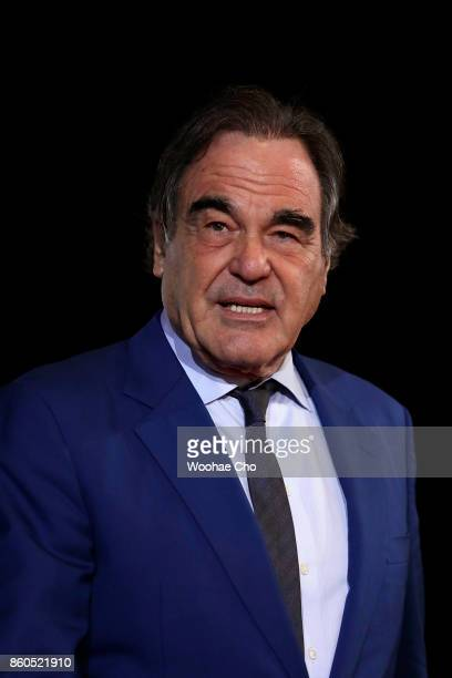 Director Oliver Stone attends the Opening Ceremony of the 22nd Busan International Film Festival on October 12 2017 in Busan South Korea