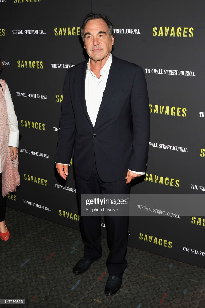 Director <a gi-track='captionPersonalityLinkClicked' href=/galleries/search?phrase=Oliver+Stone&family=editorial&specificpeople=173458 ng-click='$event.stopPropagation()'>Oliver Stone</a> attends the 'Savages' New York premiere at SVA Theater on June 27, 2012 in New York City.