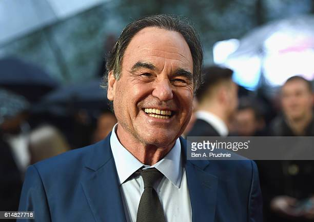 Director Oliver Stone attends the 'Snowden' Headline Gala screening during the 60th BFI London Film Festival at Odeon Leicester Square on October 15...