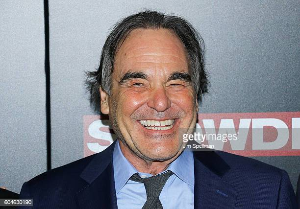 Director Oliver Stone attends the 'Snowden' New York premiere at AMC Loews Lincoln Square on September 13 2016 in New York City