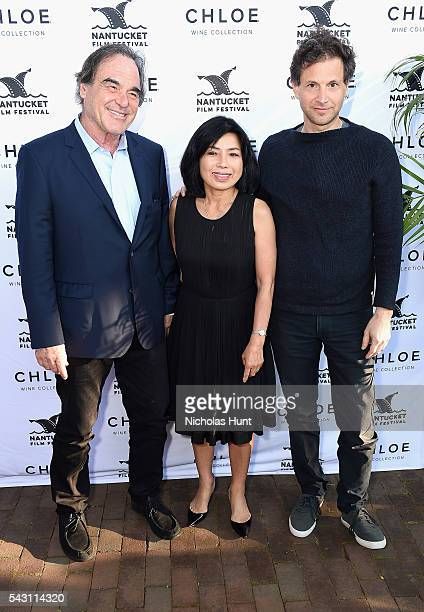 Director Oliver Stone Sunjung Jung and Director Bennett Miller attend the Screenwriters Tribute at the 2016 Nantucket Film Festival Day 4 on June 25...
