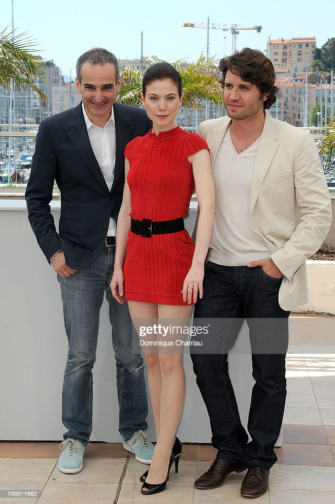 Director Olivier Assayas, actress Nora Von Waldstatten and actor Edgar Ramirez attend the 'Carlos' Photo Call held at the Palais des Festivals during the 63rd Annual International Cannes Film Festival on May 20, 2010 in Cannes, France.