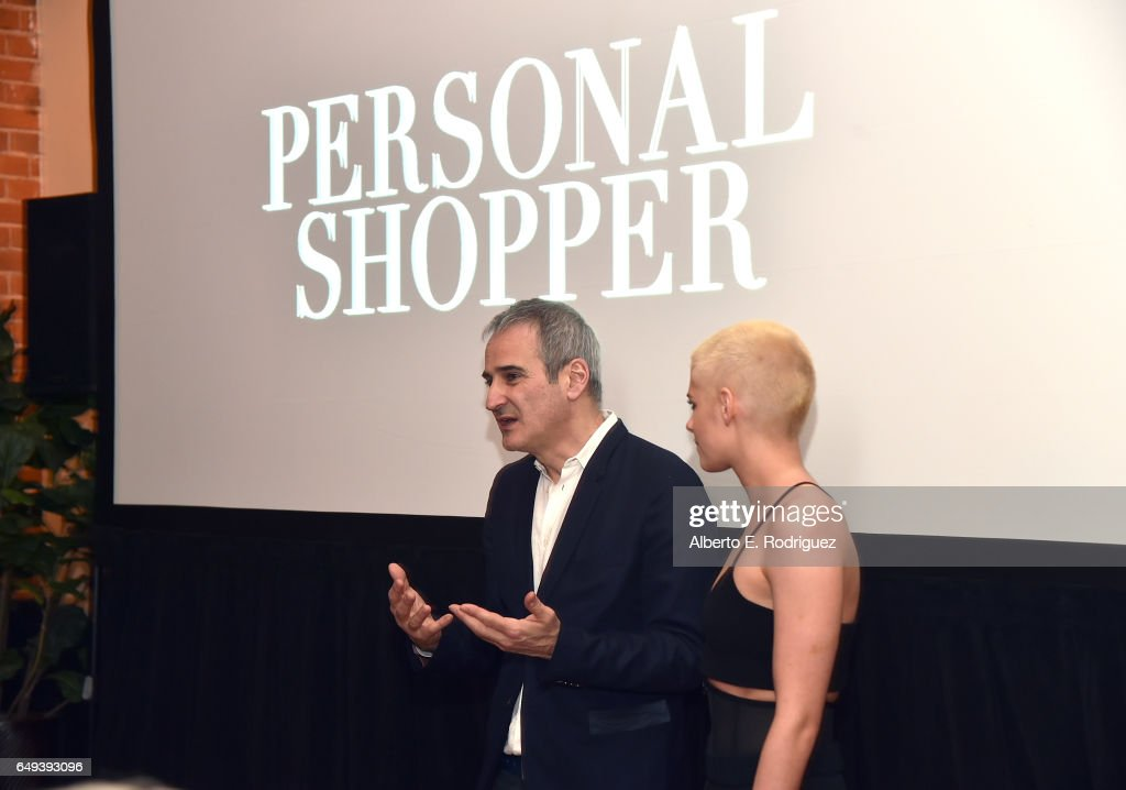 Director Olivier Assayas (L) and actor Kristen Stewart at the Flux and Cinefamily Hosted Premiere of IFC Films' PERSONAL SHOPPER at The Carondelet House on March 7, 2017 in Los Angeles, California.
