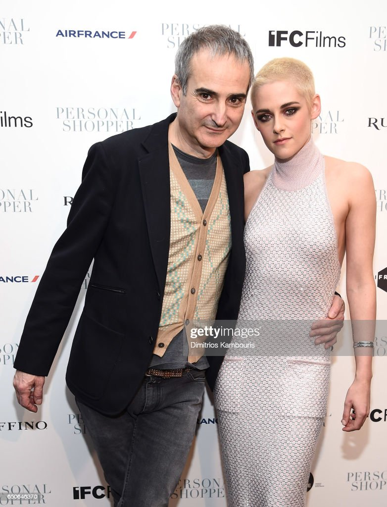 Director Olivier Assayas and actress Kristen Stewart attend the 'Personal Shopper' premiere at Metrograph on March 9, 2017 in New York City.