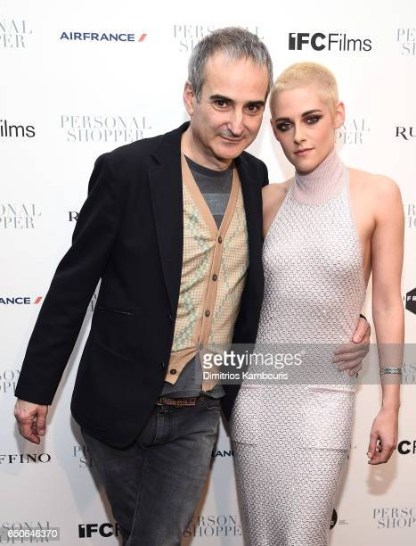 Director Olivier Assayas and actress Kristen Stewart attend the 'Personal Shopper' premiere at Metrograph on March 9 2017 in New York City