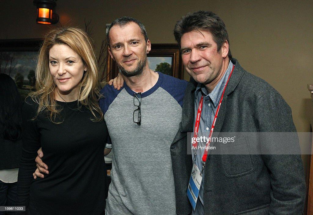Director Ondi Timoner, producer John Battsek and Greg Barker attend the HBO Documentary Films Sundance Party on January 20, 2013 in Park City, Utah.