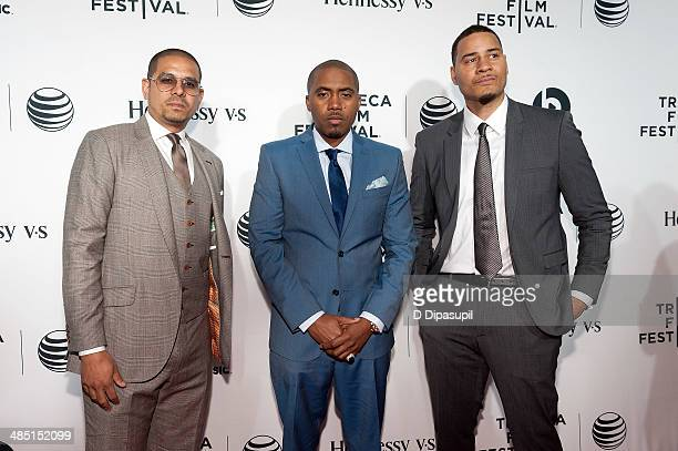Director One9 Nas and screenwriter Erik Parker attend the 2014 Tribeca Film Festival Opening Night Premiere of 'Time Is Illmatic' at The Beacon...