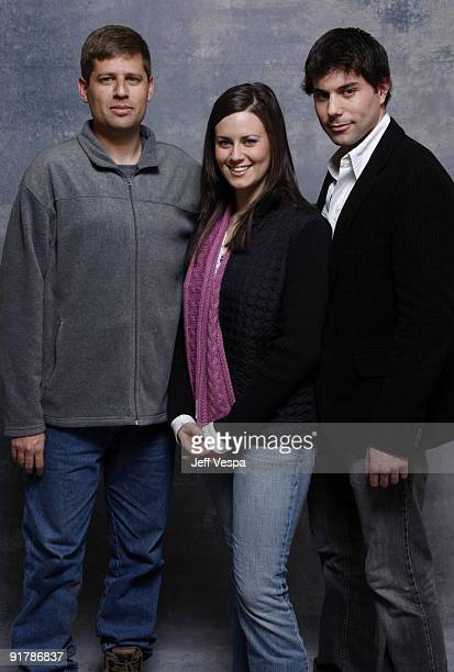 Director Oren Peli Katie Featherston and Micah Sloat at the 360Sky Delta Lounge WireImage Portrait Studio on January 30 2008 in Park City Utah